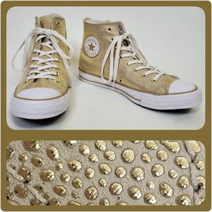 Gold hi-top Chucks